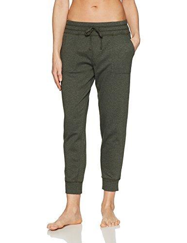 Amazon Brand - Mae Women's Loungewear Wide Waist Jogger Pant, Forest Night, S