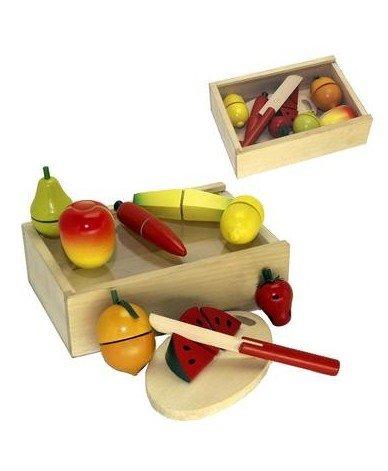 Ulysse Coffret Fruits légumes à découper Jeu Jouet en Bois dînette Enfant 3 Ans +