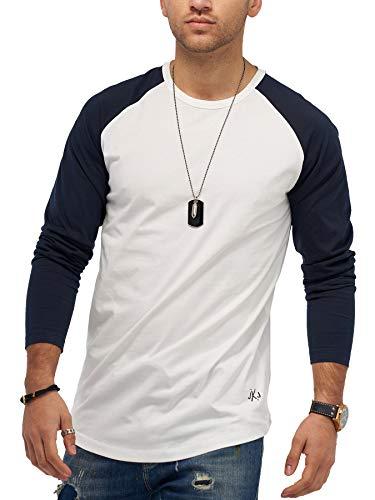 JACK & JONES Herren Langarmshirt Hunter Longshirt O-Neck T-Shirt (XL, Cloud Dancer)