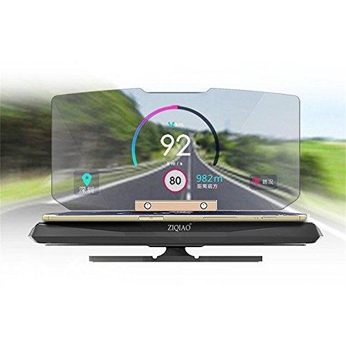 OUKU Universal Mobile GPS Navigation Bracket HUD Head Up Display For Smart Phone Car Mount Stand Phone Holder