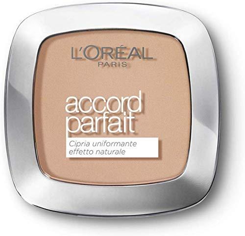 L'Oréal Paris - Poudre Fondante Accord Parfait - Peaux Normales à Mixtes - Teinte : Beige Rosé (3.R) - 9 g