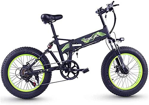 CASTOR Bicicleta electrica Bicicletas eléctricas Plegables 4.0 Llantas Grasas, aleación de Aluminio Bicicleta LCD Pantalla de Choque Deportes Deportes de Bicicleta