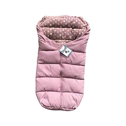 Cangaroo Footmuff Cuddle, pour landau Thermofleece zip étanche à l'eau, coloris:rose