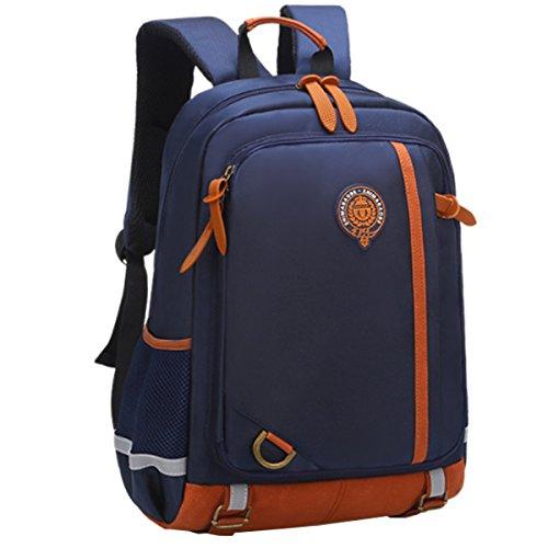 Uniuooi Primary School Bag Backpack for Girls Age 9-12 Years Kids Satchel Multi Pocket Waterproof Navy Large
