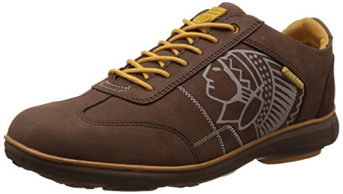 Redchief Men's Dark Brown Leather Trekking and Hiking Footwear Shoes - 6 UK/India (39 EU) (RC2893)