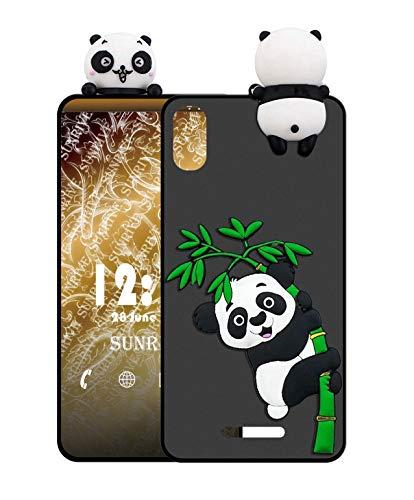 Sunrive Für ZTE Blade A452 Hülle Silikon, Handyhülle matt Schutzhülle Etui 3D Hülle Backcover für ZTE Blade A452 (W1 Panda 2) MEHRWEG+Gratis Universal Eingabestift