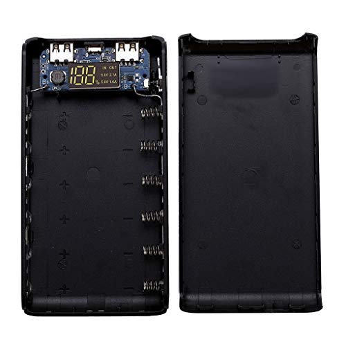 Kcnsieou Fashion Design (keine Batterie) Dual USB Ausgang 6x 18650 Akku DIY Power Bank Box Halter Case für Handy Tablet PC