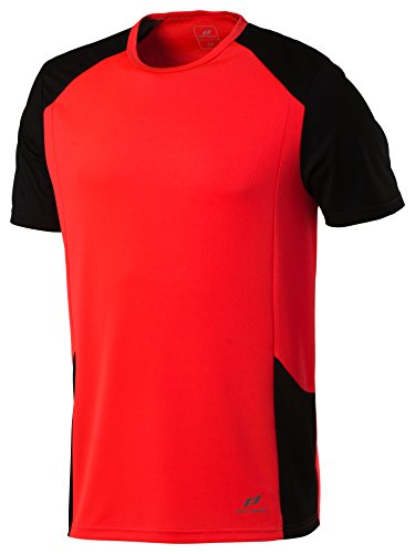 Pro Touch 4032684580960 T-Shirt Homme, Fiery Coral/Noir, FR (Taille Fabricant : XL)