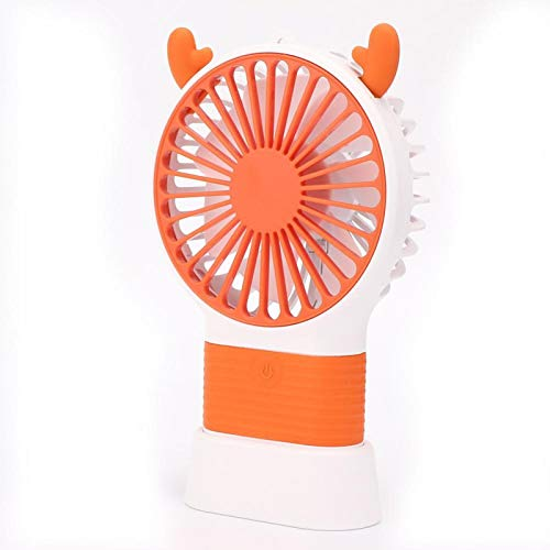 Pwshymi Ventilador de Viaje Ventilador portátil de Ajuste Ventilador de Mano para Sala de Estar Dormitorio Hogar(Sun Orange)