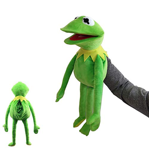 GoGreen Sprouter Kermit Frog Puppet Hand Puppet Show Muppets Plush Doll,Frogs Stuffed Animal Plushie Toy Children's Gifts 60Cm/Green