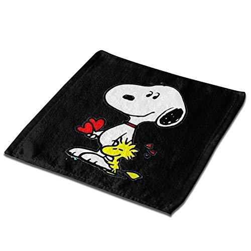 N / A Peanuts Snoopy Towel Quadratischer Schal Handtuch Polyester Bequem Und Weich GEH Zu Hause Aus 33x33cm