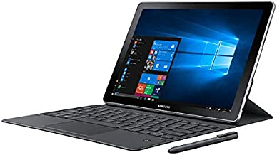 "SAMSUNG Galaxy Book SM-W728VZKCVZW 12"" Touchscreen 2160 x 1440 Detachable 2-in-1 Laptop Intel Core i5 7th Gen 7200U 2.50 GHz 8 GB LPDDR3 Memory 256 GB PCIe NVMe SSD Windows 10 (Black/ Silver)"