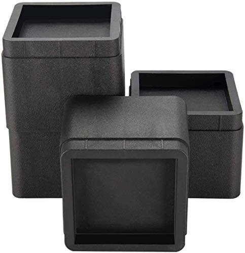Iriisy 4Pcs Elevador de Muebles Alza de Mueble de 7cm elevadores de cama de alta resistencia para sofá sillón mesa o Mobiliario altura adicional de 7cm o 14cm