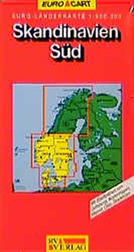 Skandinavien (Süd): Südnorwegen, Südschweden, Dänemark. 1:800000 (MARCO POLO Länderkarten)