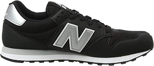 New Balance 500, Scarpe Sportive Uomo, Nero (Black/Silver), 43 EU