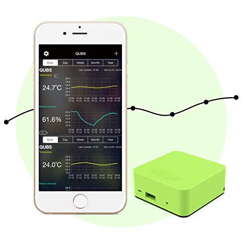 Viseeo QUBS Smart Temperatur- und Feuchtigkeitsdatenlogger, Grün
