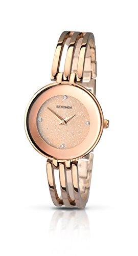 SEKONDA 2108.27 - Reloj de Cuarzo para Mujeres, Color Dorado