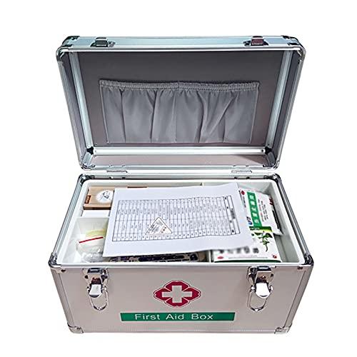 Caja De Almacenamiento De Medicamentos, Caja De Primeros Auxilios Portátil con Hombro Cruzado - Caja Médica, Asa De Transporte, con Cerradura Segura para Niños para Viajes En Casa Y Lugar De Trabajo
