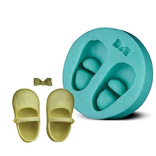Beiersi Baby Schuhe Silikon Form für Fondant Marzipan Tortendeko Ausstecher Seife Dekoration Werkzeug (Stil 5)