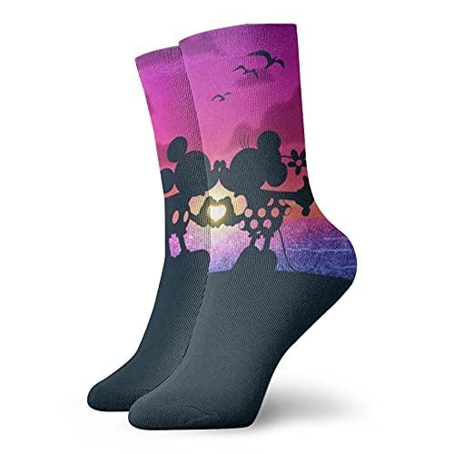 Mickey Cartoon Mouse Minnie Calcetines casuales y de moda, súper suaves y cómodos calcetines transpirables de algodón
