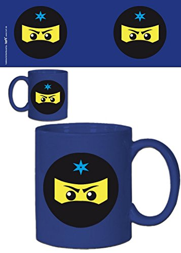 1art1 Gaming, Ninja Icon, Blau Foto-Tasse Kaffeetasse (9x8 cm) Inklusive 1x Überraschungs-Sticker