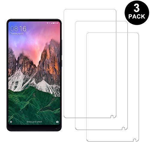 SNUNGPHIR Xiaomi Mi Mix 2 Protector Pantalla, Cristal Templado para Xiaomi Mi Mix 2, Anti-arañazos, Anti-Huella Digital, Sin Burbujas, 3 Unidades