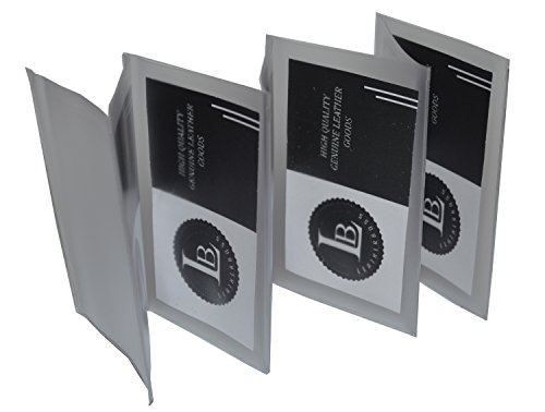 Plastic Accordian Inserts for Bifold Trifold Wallets - 6 Pages (Set of 2)