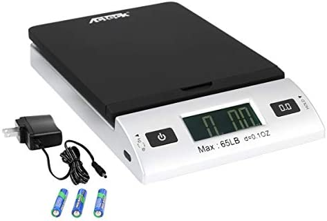Acteck A CK65BS 65LBx0 1OZ Digital Shipping Postal Scale with Batteries and AC Adapter Black product image