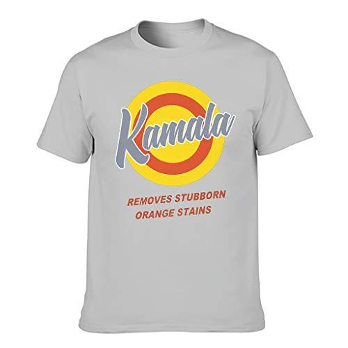 Athletisch Herren T-Shirt Vintage Vote Kamala entfernen hartnäckige Orange Flecken Druck Sarkastisch Kostüm T-Shirt Silver Gray l