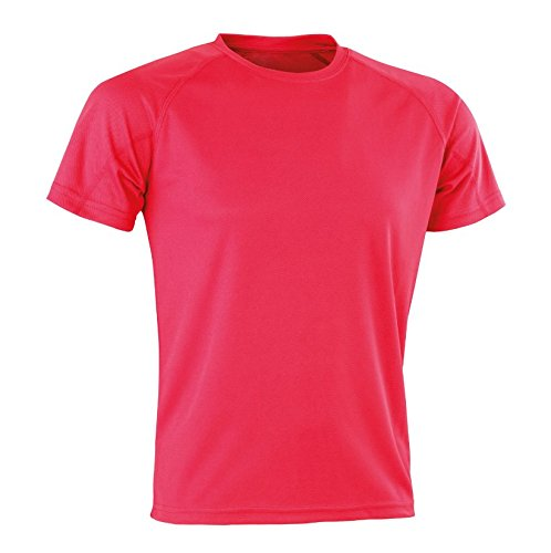 Spiro Performance Aircool T-Shirt Homme, Rose, XXS