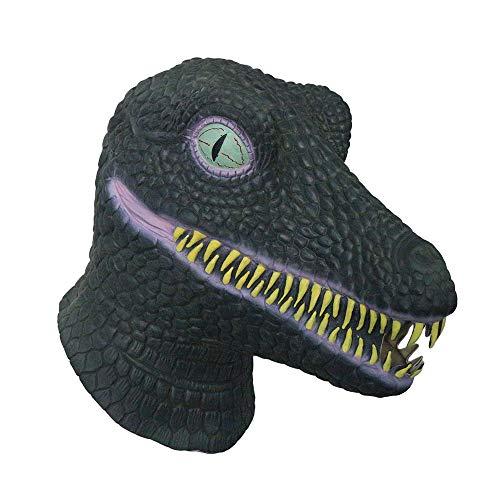 Kaapow Máscara de Dinosaurio de látex. Disfraz de Cabeza Completa Halloween, Fiestas de Disfraces o Eventos de Cosplay.