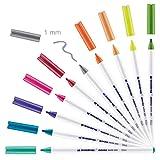 edding 4600-10-099 - Pack 10 rotuladores textiles. Básicos. (11, 02, 16, 19, 33, 34, 65, 66, 68 y 69).