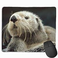 ラッコかわいいマウスパッド滑り止めラバーゲームマウスパッドマットコンピューターのラップトップ30x25 cm