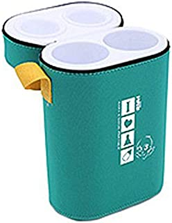 Farlin BF-225 Insulated Double Bottle Holder, Green