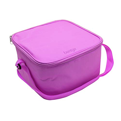 Bentgo Classic Bag (Purple) - Insulated Lunch Bag Keeps Food Cold On the Go - Fits the Bentgo Classic Lunch Box, Bentgo Cup, Bentgo Sauce Dippers and an Ice Pack - Works With Other Food Storage Boxes