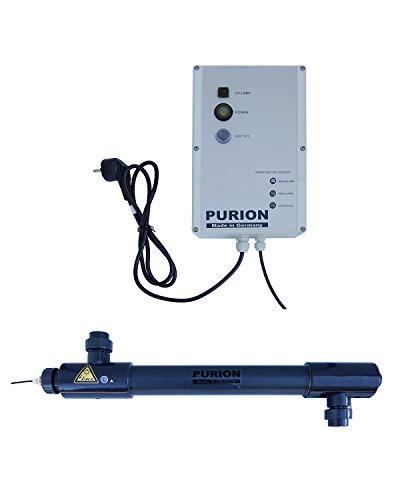 Purion 2501 UV UVC UV-C Reiniger Salzwasser bis 60m³ Sterilisator (Purion 2501 PVC-U mit Lebensdauerüberwachung)