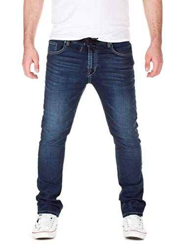Yazubi Herren Sweathose in Jeansoptik Skinny Fit, Dark Blue (20033), W28/L34