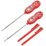 2 Pack Instant Read Digital Meat Thermometer - AIMILAR AY6001-R2 Magnetic Waterproof Food Cooking Thermometer with Backlight for Kitchen Oven BBQ Grill Smoker Turkey Candy Water