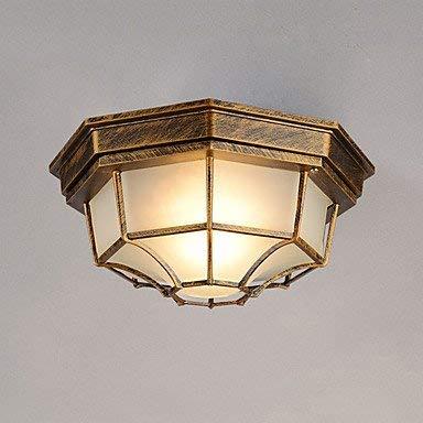 Moderne kroonluchter, hanglamp, waterdicht, vochtbestendig, koepel, balkon, outdoor, terras, deurlicht, hal, veranda, licht C