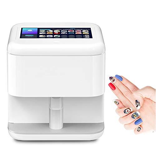 JMYCYO 3D Intelligent Nail Printer Machine 7 Inch Touch Screen Digital Mobile Nail Art DIY Pattern Printing Stamper Machine Manicure Tool Support WiFi/DIY/USB White