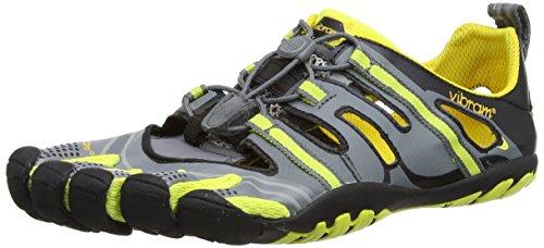 Vibram FiveFingers Vibram FiveFingers Herren Trekking Light Treksport Sandal Funktionsschuh, grau/gelb/schwarz, 43 EU
