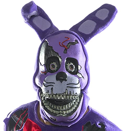 Rubie's Costume Co Men's Five Nights At Freddy's Nightmare Bonnie 3/4 Mask, As Shown, One Size