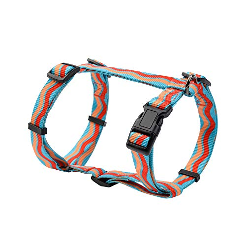 DYAprWu Adjustable No Pull Dog Harness Durable Print Harness for Small Medium and Large Dog Great for Dog Sports Training Walking Running (S Chest Girth 12.6