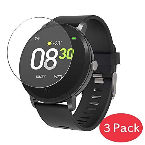 VacFun 3 Pezzi Vetro Temperato Pellicola Protettiva per BingoFit Prem SL-BU SL-BK-2 1.3' Smartwatch Smart Watch, 9H Pellicola Vetro Senza Bolle Screen Protector Orologio Intelligente Braccialetto
