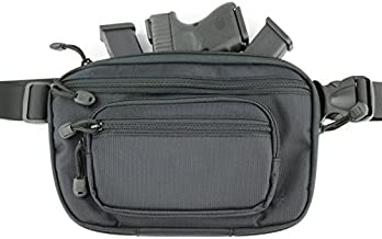 ComfortTac Ultimate Fanny Pack Holster Fits Glock 42, 43, 26, 27, S&W Bodyguard, Shield, Springfield XDs, Taurus, Sig, and Most Subcompact and Compact Pistols - Black