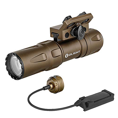 OLIGHT Odin Mini 1250 Lumens Ultra-Compact Rechargeable Tactical Flashlight, Designed for Mlok Rail Mount and Charged by 2040mAh 18500 Battery, with MCC3 USB Magnetic Charging Cable (Desert Tan)