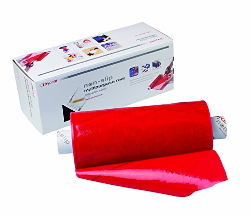 "Dycem Non-Slip Material, Roll, 8"" X6-1/2 Foot, Red"