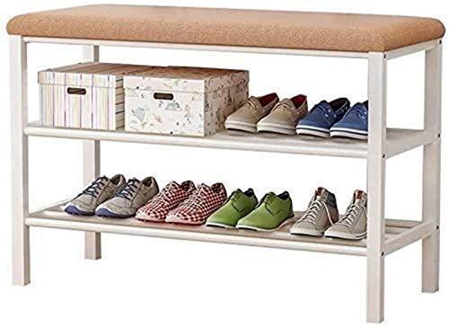 QZMX Estante de Zapatos Bastidores del Zapato de Hierro con el Estante del Zapato Acolchado, Almacenamiento, Almacenamiento, Ideal for Pasillo, baño, Sala de Estar Estante