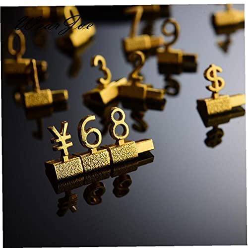 Froiny 1 Unid Estantante De Metal De Metal Ajuste Calcadores Pantalla De Precio Pública Euro Libre Precio Cubiertos Cubiertos Cubiertos Montaje De Etiquetas De Etiqueta 🔥