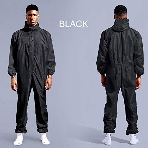 Wasserdichte Arbeitskleidung Regenschutz-Arbeitskleidung mit Kapuze Staubdichte Farbe Spray Unisex Regenmantel Arbeitskleidung Sicherheitsanzug XL